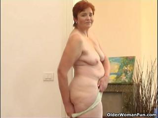 68 year old granny masturbates her lovely matured