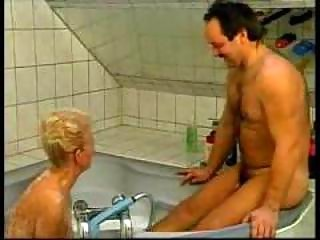 Nasty German Grandma Fucked In Bathtub amateur