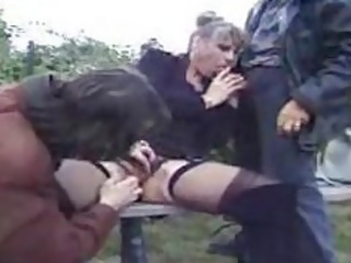 hot french mature fucks 2 guys in the park