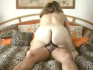 Chubby wife riding dick