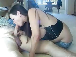 nooner blowjob cum on face of my slut wife