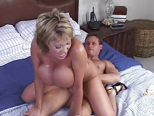 Mature woman with big tits having hardcore sex in