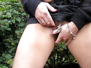 Hot wife masturbate outdoor