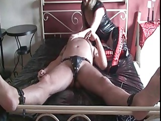 Hot MILF in stockings and nylons jercking cock