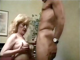 Granny Sexy Fucked In Bed, With Red High Heels