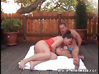 Chubby amateur wife blowjob and anal in the