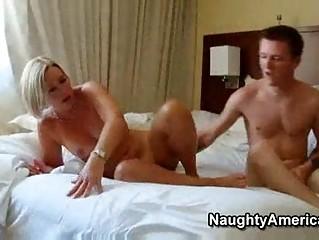 Hot mature blonde milf sexy suz fucks her sons