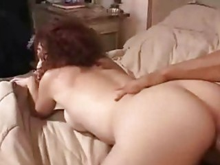 Redhead wife get jizzed on