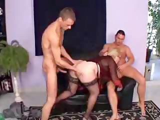 German Granny Threesome