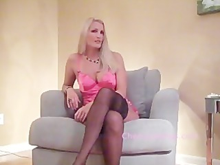 HOT Blonde in Stockings