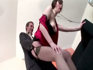 Nasty mature brit amateur in stockings