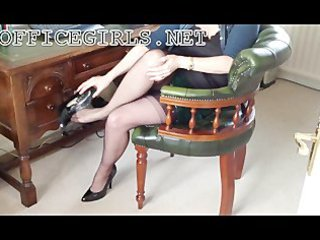 Horny MILF Slut Secretary In Fully Fashioned