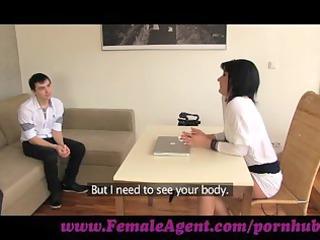 FemaleAgent. MILF casts young nervous stud