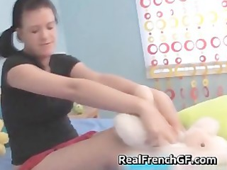Big boobed french teenie dildo fucking part2