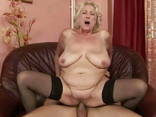 Busty fat grandma enjoys good fucking