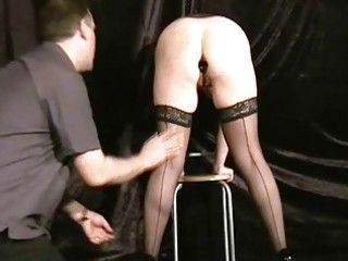 Buttplugged mature wife slaves humiliation