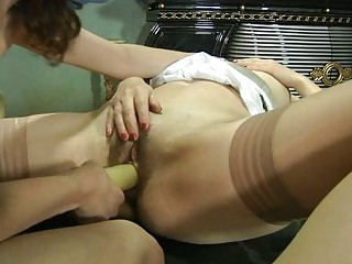 Vivacious babe and her mature girlfriend
