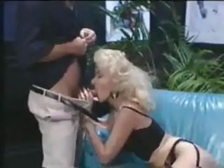 Vintage German porn with blonde MILF sucking and
