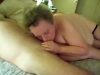 Hot BJ from a busty mature