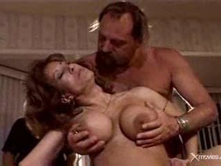 Watching his old wife exploited by 3 hard