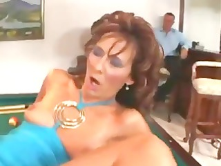 Elegant Hairy Milf take young cock deep in pussy