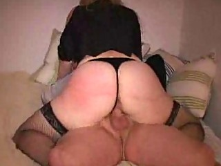 Milfs rally fat ass jiggles as she rides cock