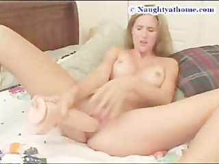 Desirae and a big dildo part 2