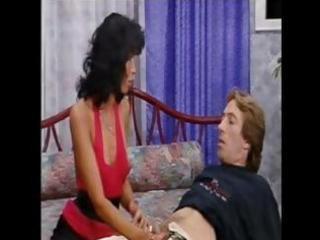 Naughty mature ethnic Gaella Perreira eats his