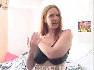 Older redhead mom masturbating