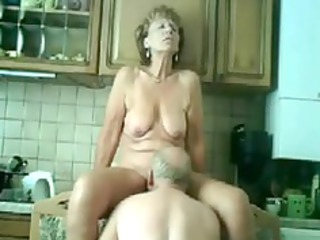 Mature fucked in Kitchen