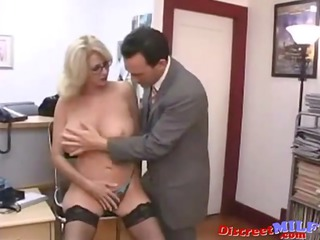 Juicy MILF Fucked Hard in the Office