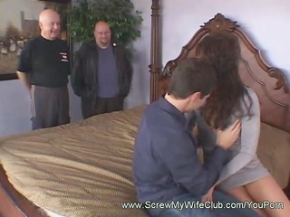 Brunette Cowgirl Spanked While Riding a Cock