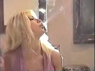 Blonde smoking MILF