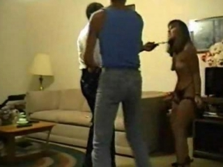 Husband forces wife to fuck an old black dude
