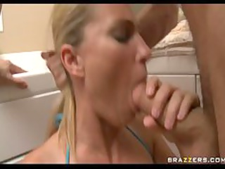 Big Titted Milf sneaks into a resort and is to