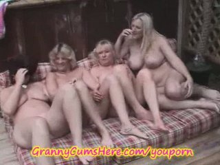 4 lesbian grannies in public