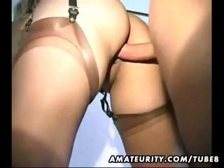 Busty amateur mature wife gets banged hard and