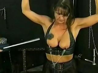 Bdsm session with hot mature slave part 4