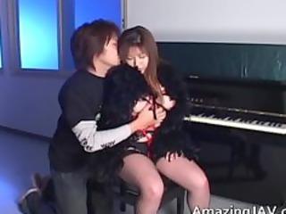 Japanese Momoko looking hot in stockings part2
