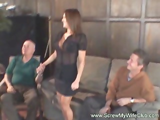 Sexy brunette wife gets hammered by a big cock