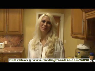 Jazy Berlin teen blonde babe with big tits and
