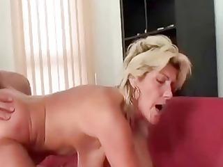 Granny swallows a big Cock and fucks it hard