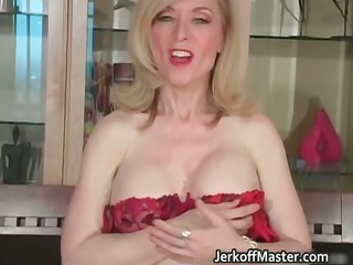 Slutty blond mum with big hooters part5