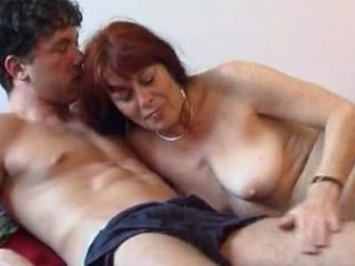 Mature woman with a young boy 1