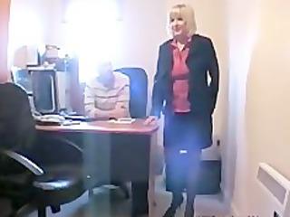 Mature British Blonde Sucks And Fucks 2 Younger