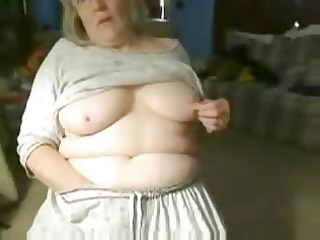 54 years Busty Granny, homeAlone fingering