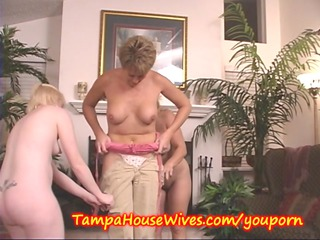 2 MILFS teach a Young Housewife to PARTY