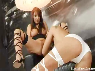 Sandra Shine and Maria Bellucci toy and eat pussy