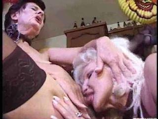 Drunk granny lesbos in a heat