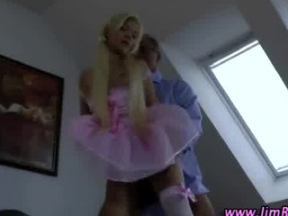 European babe in stockings gets fucked by mature